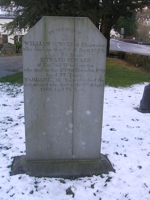 In memory of William Coward died 1808 aged 55 years, also Edward Coward died 1881 aged 77 years and Margaret wife of Edward died 1886 aged 78 years.