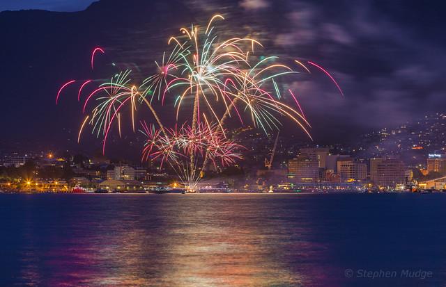 NYE Fireworks in Hobart 2