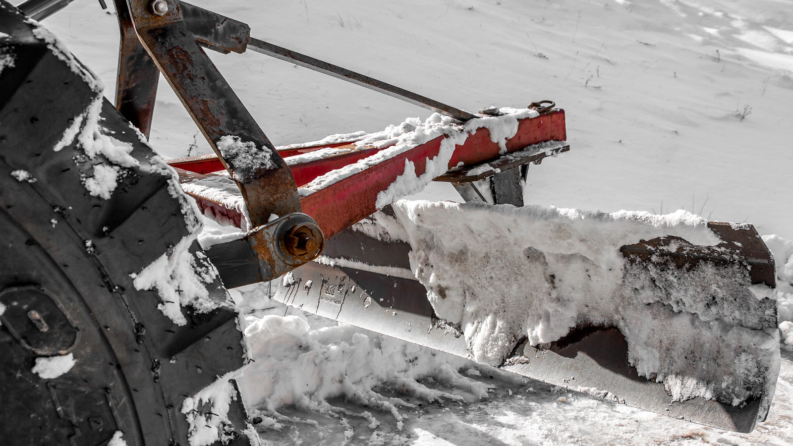 (driveway) snow removal blade