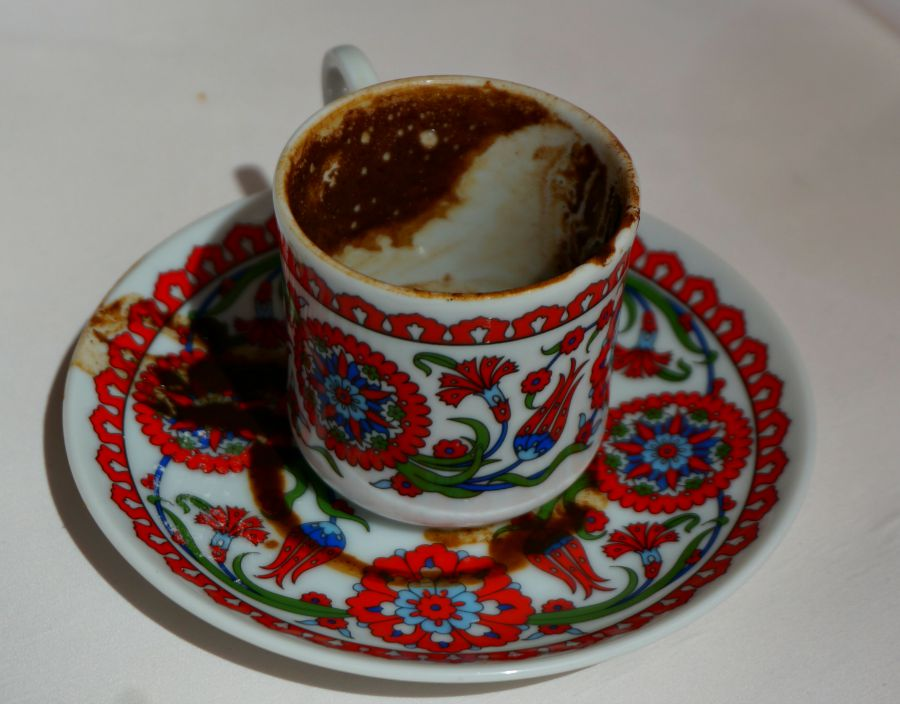 Reading Turkish Coffee Grounds