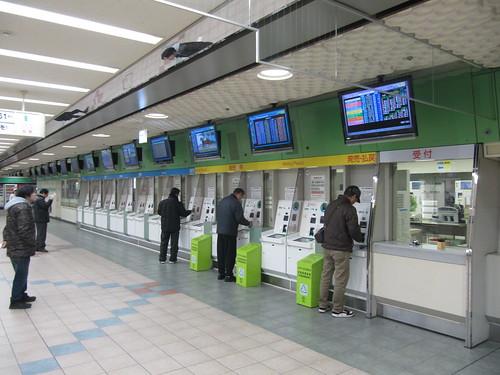 京都競馬場の投票所