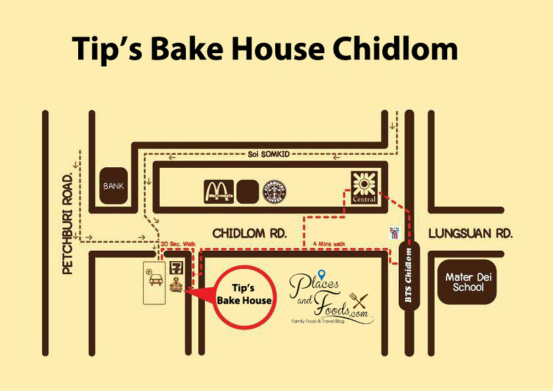 tip's bake house chidlom map