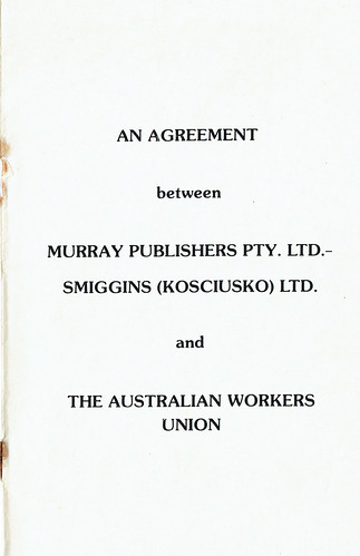 AWU Agreement Cover