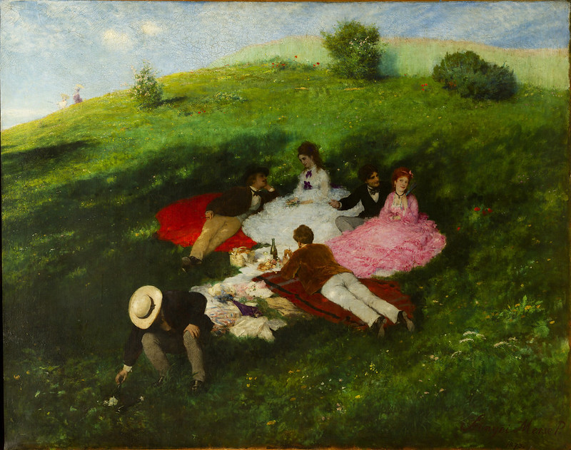Pal Szinyei Merse - Picnic in May (1873)