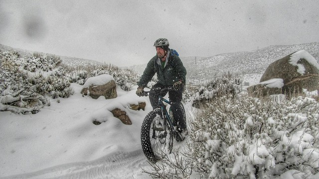 Snow ride on the V&T Trail