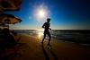 running on the beach - Tel-Aviv