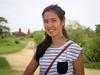 Samantha on the bike in Bagan