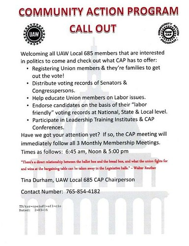 CAP COmmittee Call Out