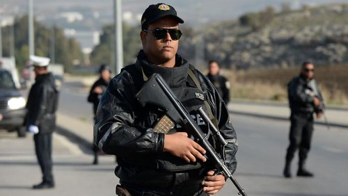 Security Services Protest in Central Tunis
