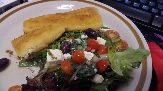 fish and salad\