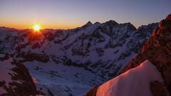 Wschód słońca z przełęczy Col de la Neiges 3348m.