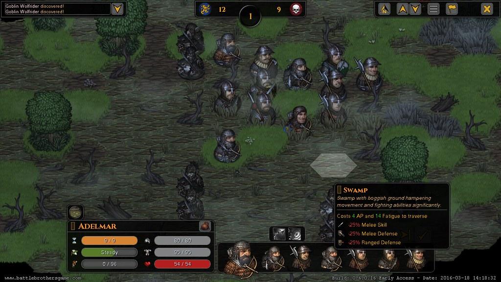 Battle Brothers combate efectos del terreno