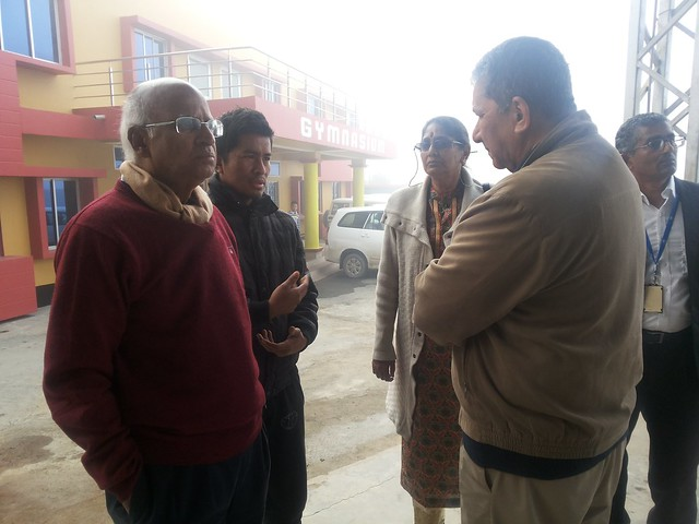 25.13th Feb_Ranjit Barthakur, S. Ramadorai and R. Shrinivashan at Marry Kom Boxing Academy