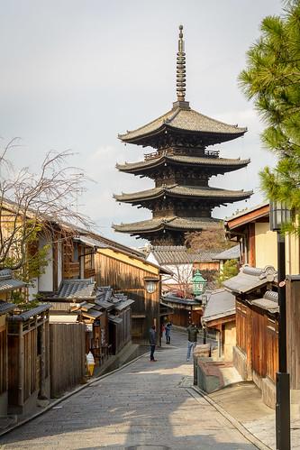 japan pagoda asia higashiyama kyōto hokanji kyōtoshi kyōtofu