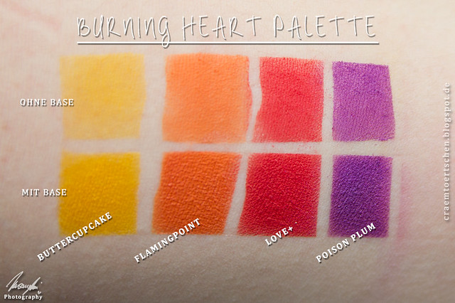 Burning Heart Swatches