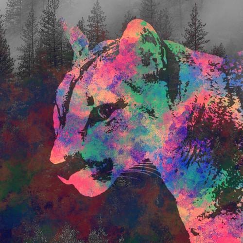Cougar digital collage