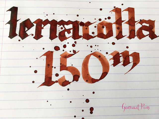 Ink Shot Review Diamine 150th Anniversary Terracotta @AppelboomLa (4)