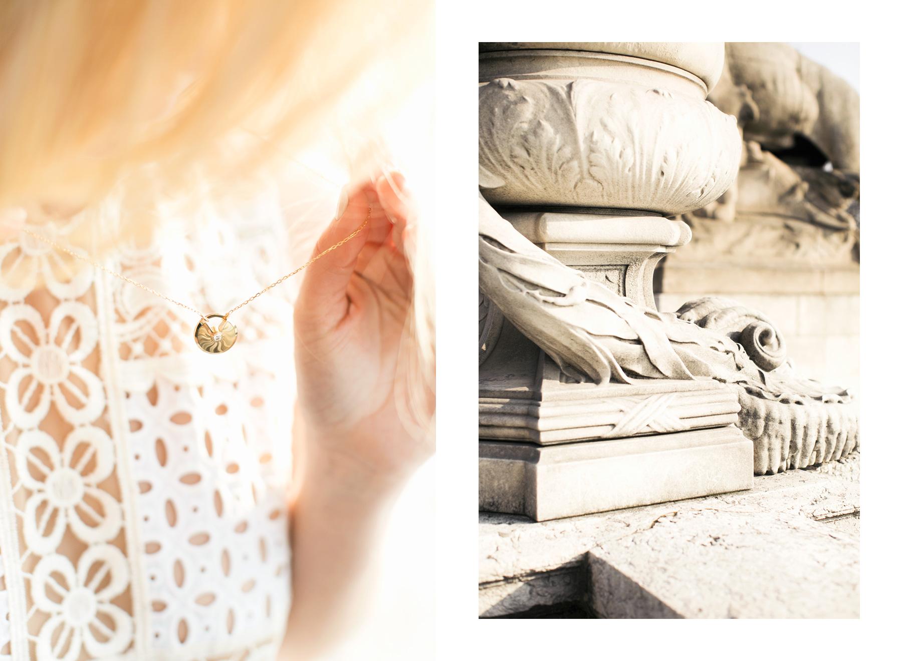 Cartier Guilloche Gold Amulette