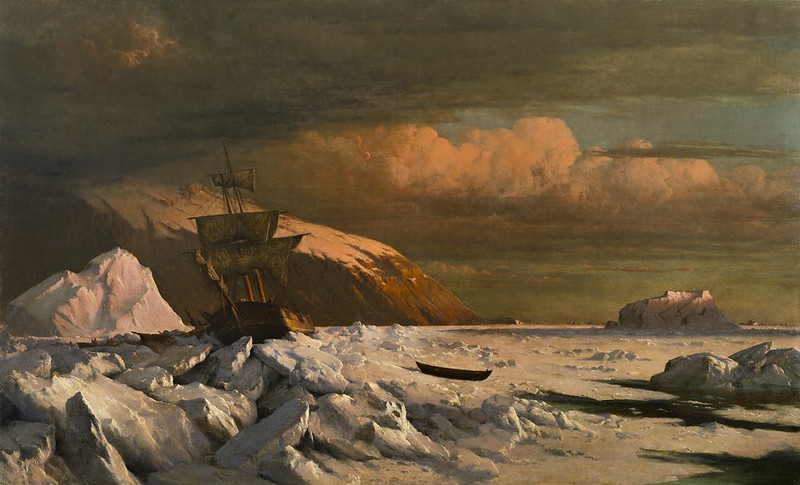 William Bradford - Ship Trapped in Pack Ice (c.1871)