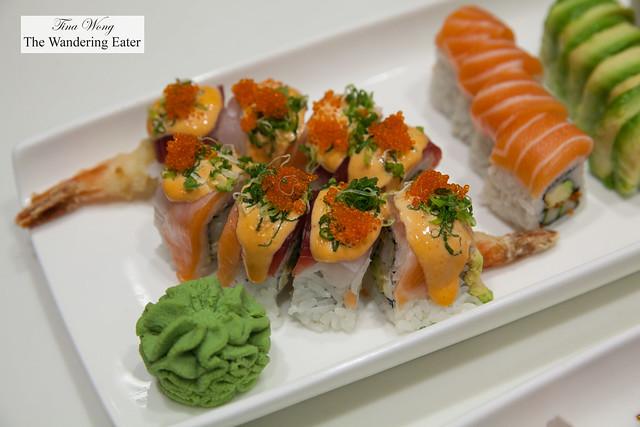 Platter of sushi from Mizu Asian Bistro