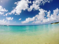 #caribbean #colours #beach #boat #waves #catamaran #beach #turquoise #sea #barbados #paradise