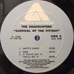 THE HEADHUNTERS:SURVIVAL OF THE FITTEST(LABEL SIDE-B)