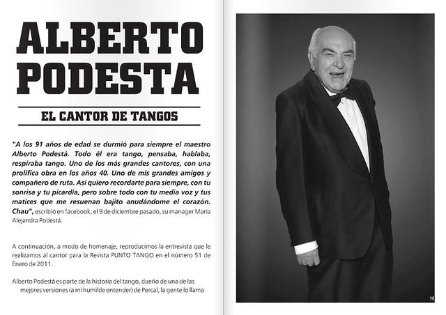 Revista Punto Tango Enero 2016 - Alberto Podesta
