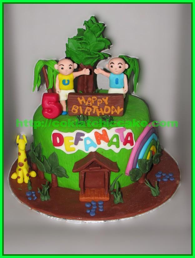 Cake Ipin Upin DEFANATA Jual Kue Ulang Tahun
