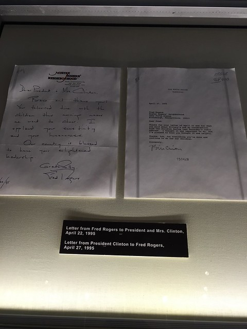 Letter to and from Mr. Rogers and Clintons.