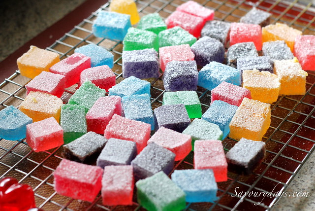 How to make Gumdrops (Gummy candy recipe with video) - Rice