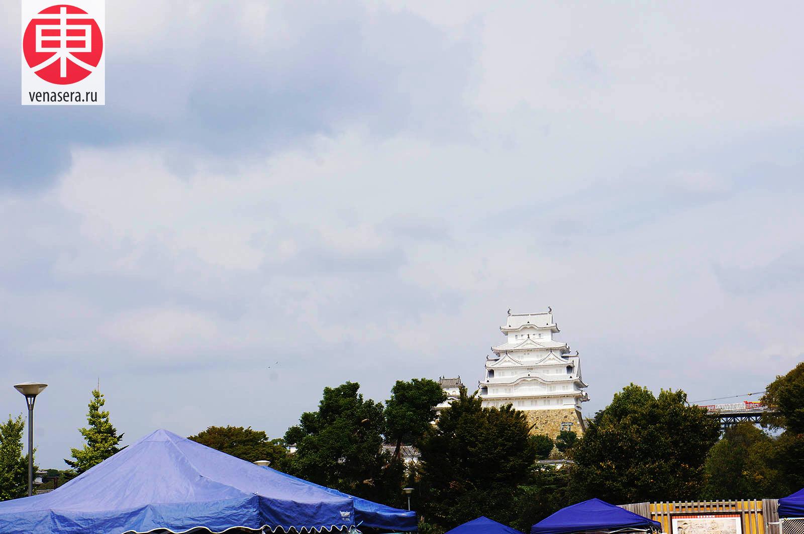 Замок Химэдзи, Himeji-jo, 姫路城, Замок Сирасаги, Shirasagi-jo, 白鷺城, Химэдзи, Himeji, 姫路, Хёго, Hyogo, 兵庫県, Хонсю, Honshu, 本州, Япония, Japan, 日本.