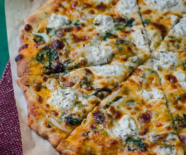 Creamy Pumpkin Pizza with Truffled Gouda and Herbed Ricotta