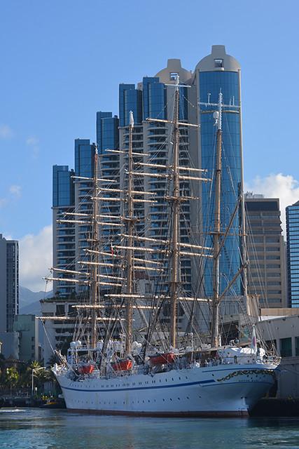 Nippon Maru and buildings