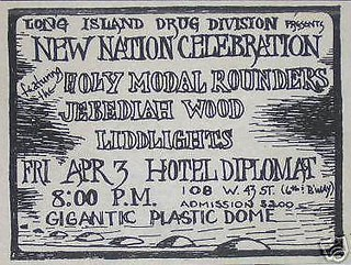 04/03/70 Holy Modal Rounders/ Jebediah Wood/ Liddlights @ Hotel Diplomat, New York City, NY