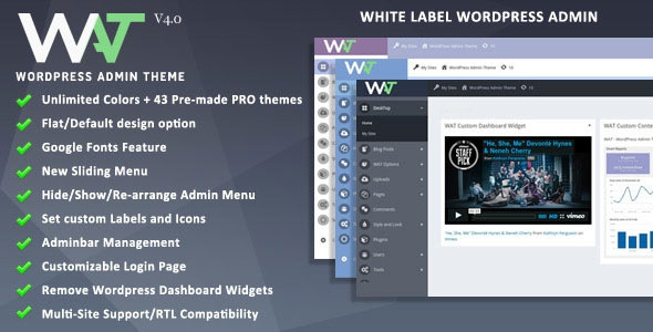 Codecanyon WordPress Admin Theme v4.0
