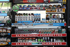 Electronic Cigarette at Gas Station