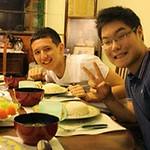 "Sanzhar & Zhanik having a ""Taste of Singapore - Chicken Rice"""