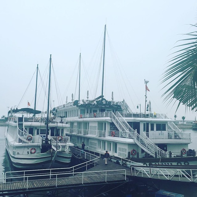 Hoping the haze will clear as we cruise out into Ha Long