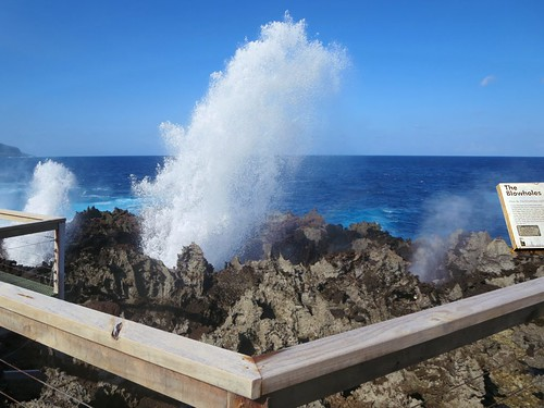 ocean christmas island indian australia blowholes
