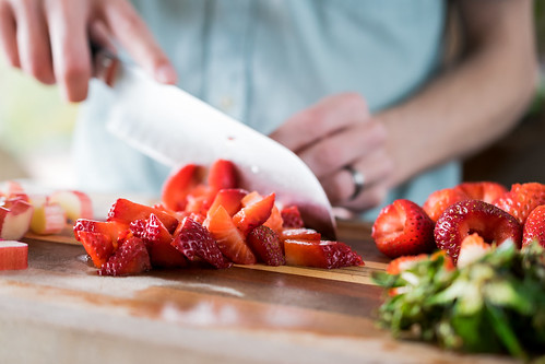 mounds of fresh strawberries
