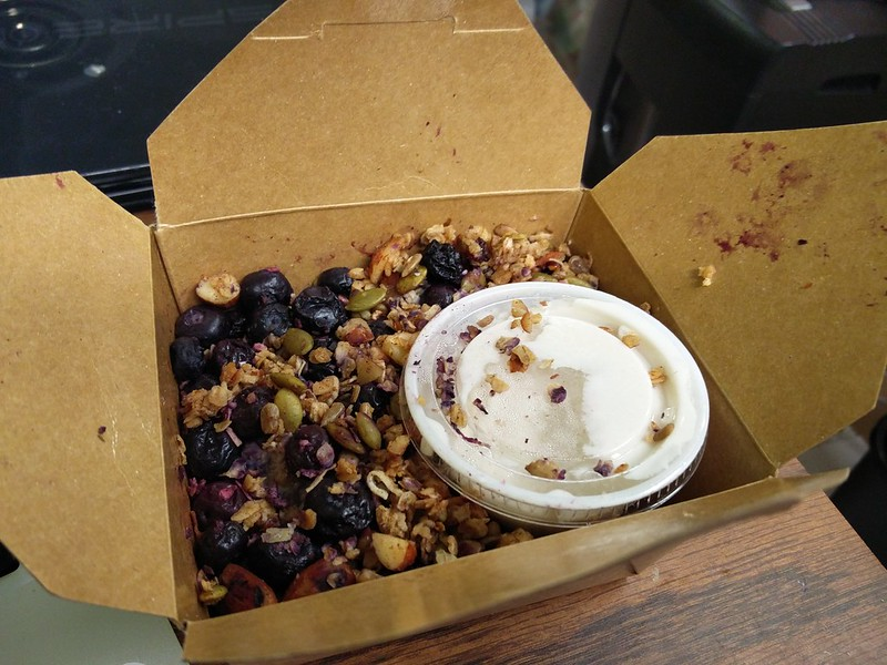 Hungry Vegan - Blueberry Steel Cut Oats with coconut yogurt
