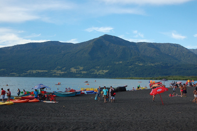 Playa Grande, Lago Villarica, Pucón, Chile