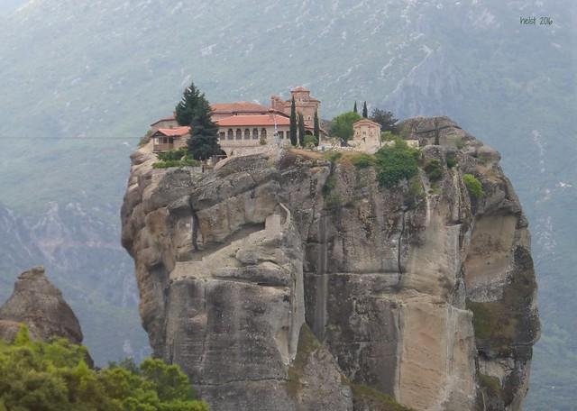 Middle of the sky: Monastery Agia Triada