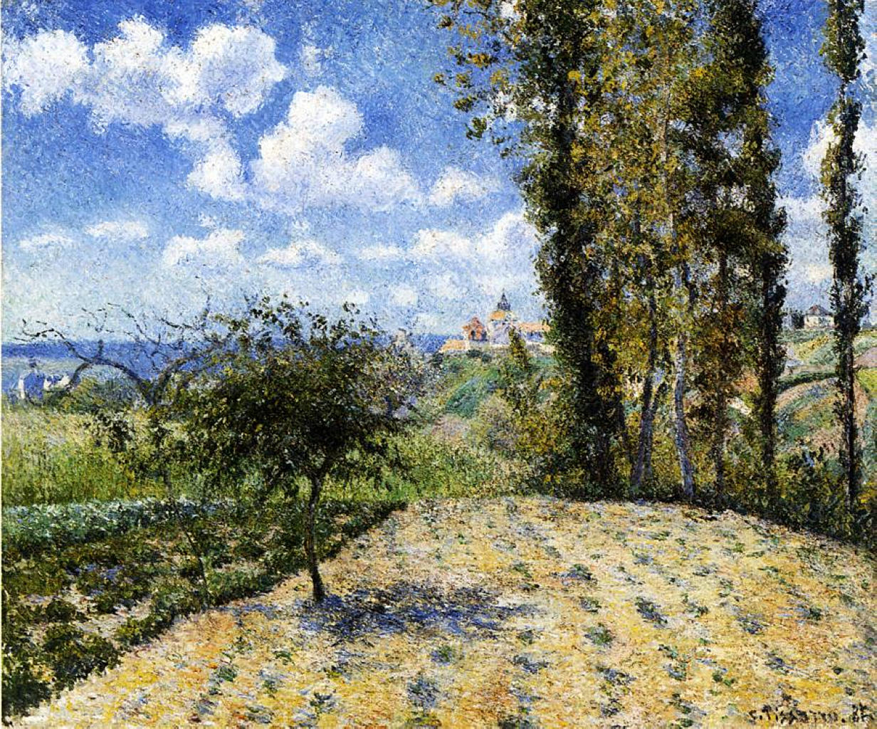 View Towards Pontoise Prison, in Spring by Camille Pissarro, 1881