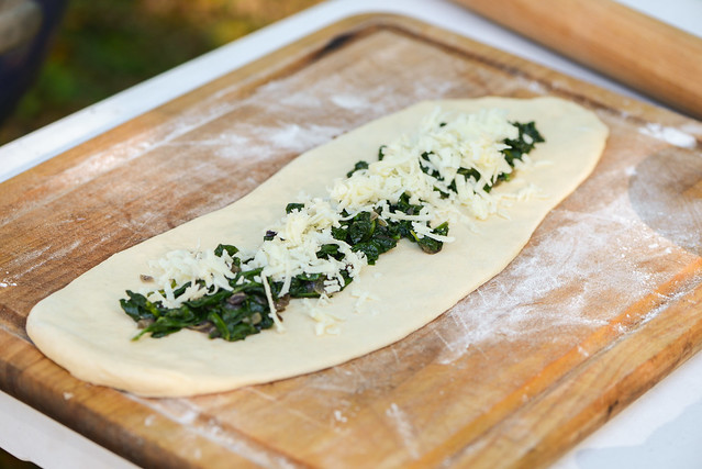 Spinach and Cheese Pide