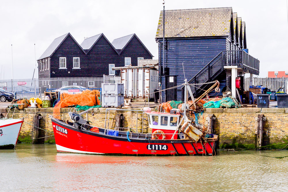 whistable docks boats harbour