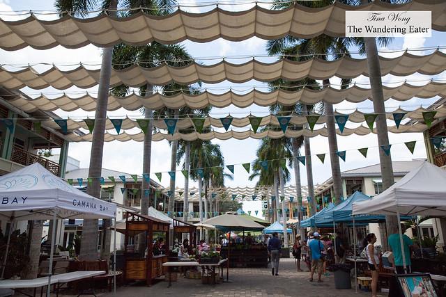 The main strip of Camana Bay