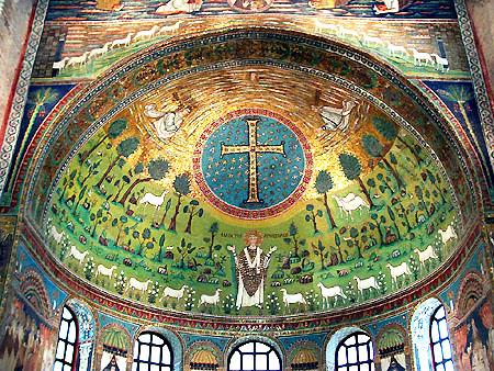 Rávena, ábside basílica S. Apolinar