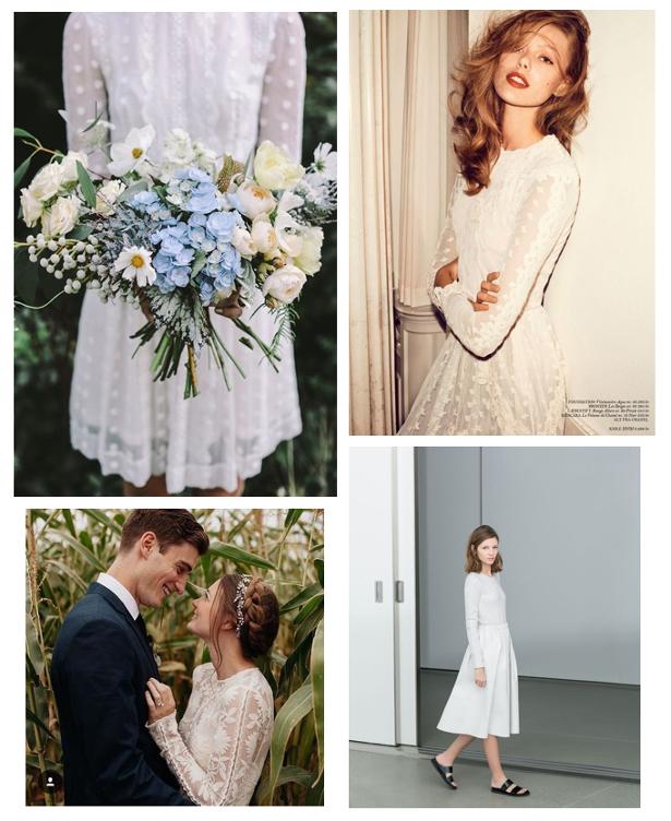 white lace dress inspiration pic