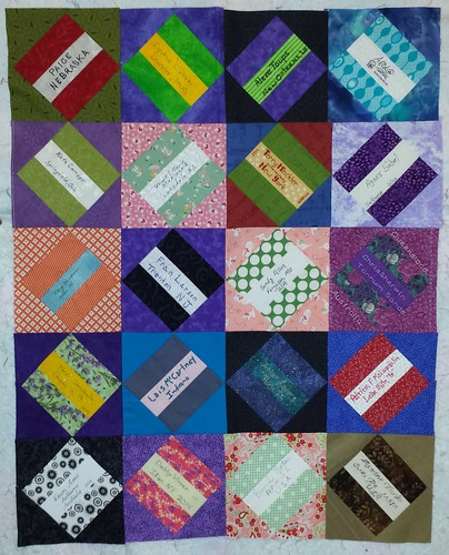 Paper Piecing Vintage Signature Quilt - UFO